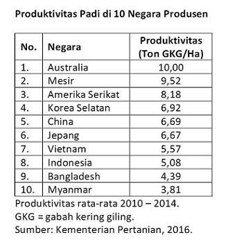 Produktivitas padi