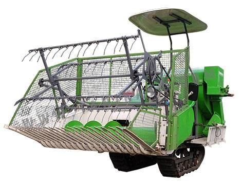 Mesin pemanen, pemipil dan pembersih biji jagung.