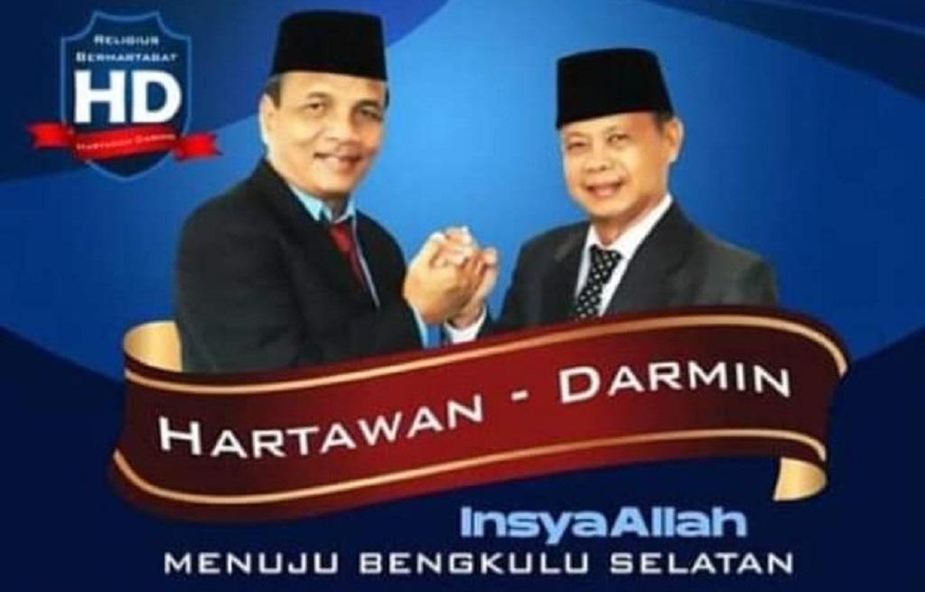 Hartawan dan Darmin bakal calon Bupati dan Wakil Bupati Bengkulu Selatan periode 2021 – 2025.