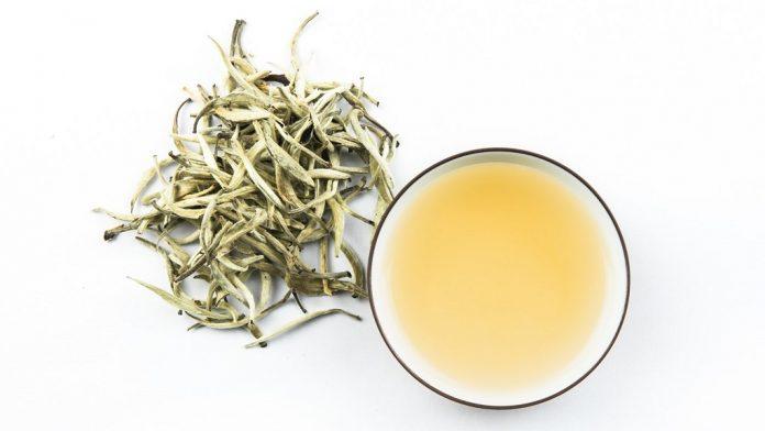 Teh putih terbuat dari peko dan daun muda tanaman teh.