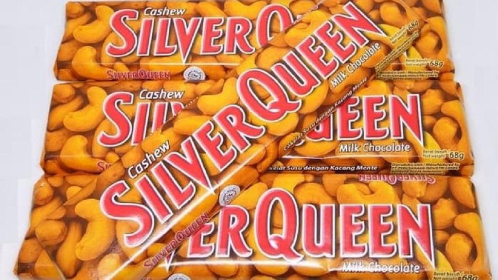 Cokelat SilverQueen sangat terkenal di Indonesia.