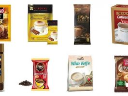 Tujuh tahap pengolahan kopi instan dari bubuk kopi biasa.