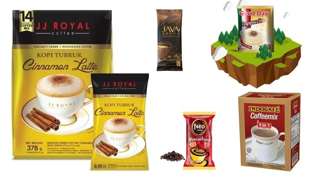 10 merek produk kopi instan di pasaran.