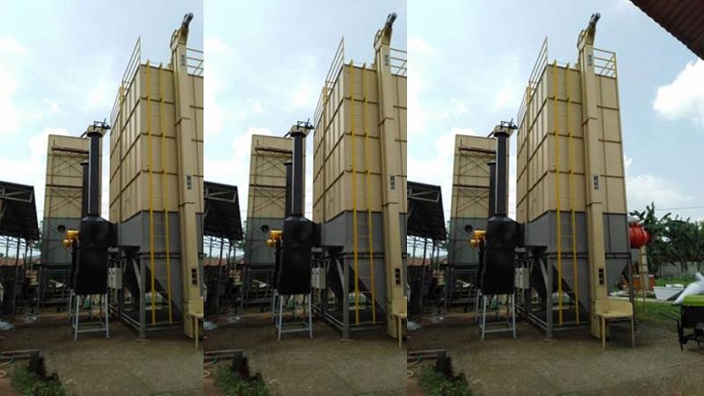 Mesin pengering padi vertikal merek Horja.