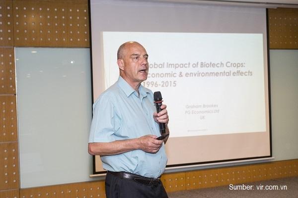 Peningkatan panen tanaman biotek melalui perbaikan pengendalian hama dan penyakit.