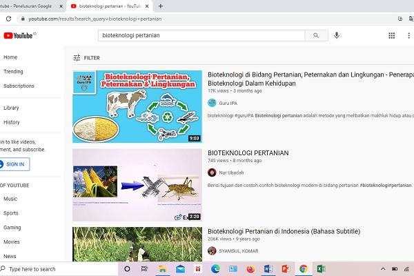 YouTube merupakan media sosial yang ampuh untuk sosialisasi tanaman biotek.