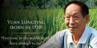 Setiap orang di dunia, menurut Yuan Longping, membutuhkan makanan yang cukup.