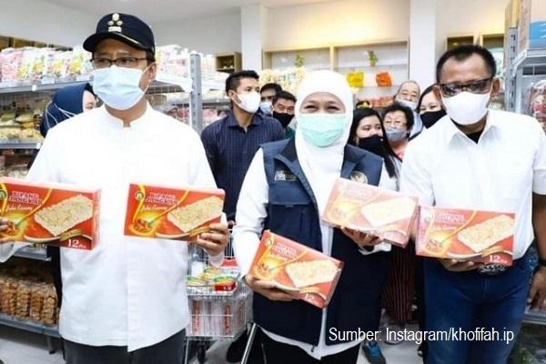 Gubernur Jawa Timur Khofifah Indar Parawangsa berpacu mempromosikan Bipang Jangkar Pasuruan.